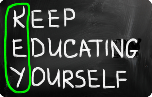 key : keep educating yourself