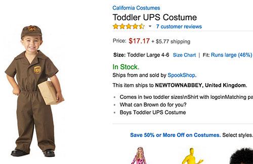 costume halloween ups